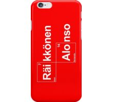 Team Raikkonen Alonso (black T's) iPhone Case/Skin