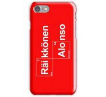 Team Raikkonen Alonso (black T's) iPhone Case/Skin