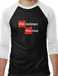 Team Raikkonen Alonso (black T's) Men's Baseball ¾ T-Shirt