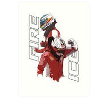 Alonso & Kimi (Fire & Ice) Art Print