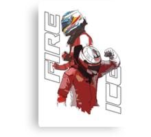 Alonso & Kimi (Fire & Ice) Canvas Print