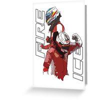 Alonso & Kimi (Fire & Ice) Greeting Card