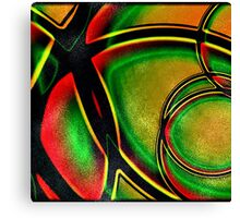 Multicolored Modern Abstract Design Canvas Print