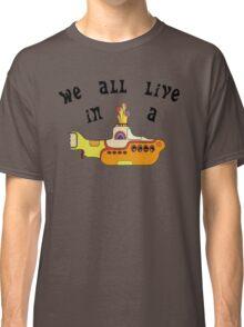 Yellow Submarine The Beatles Song Lyrics 60s Rock Music Classic T-Shirt