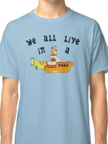 Yellow Submarine The Beatles Song Lyrics 60s Rock Music Classic T-Shirt