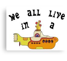 Yellow Submarine The Beatles Song Lyrics 60s Rock Music Canvas Print