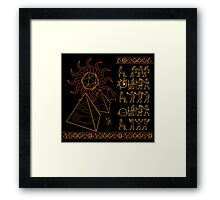 Ancient Tablets of Roleplaying Knowledge Framed Print