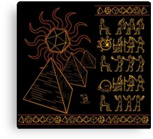 Ancient Tablets of Roleplaying Knowledge Canvas Print