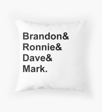 The Killers names Throw Pillow