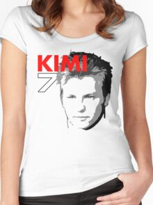 Kimi 7 - Team Garage T-Shirt Women's Fitted Scoop T-Shirt