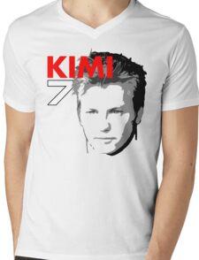 Kimi 7 - Team Garage T-Shirt Mens V-Neck T-Shirt