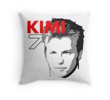 Kimi 7 - Team Garage T-Shirt Throw Pillow
