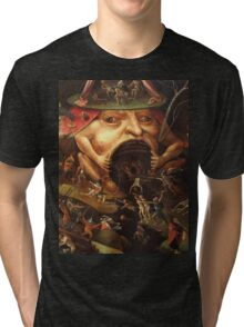 Insight into Hell 3 by Hieronymus Bosch Tri-blend T-Shirt