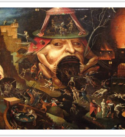 Insight into Hell 3 by Hieronymus Bosch Sticker