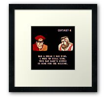 Street Fighter II x Hip Hop Framed Print