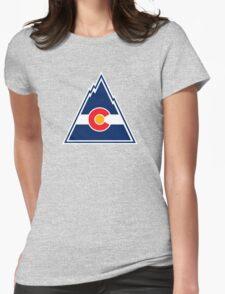 COLORADO ROCKIES HOCKEY RETRO Womens Fitted T-Shirt