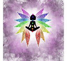 Meditating Chakra Fairy Photographic Print