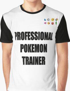 PokeTrainer with Badges Graphic T-Shirt