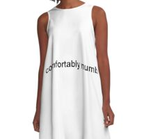 Pink Floyd - Comfortably Numb - dark text A-Line Dress