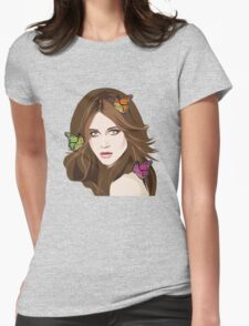 Beautiful Hair Girl 2 Womens Fitted T-Shirt