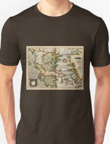 Vintage Map of Greece (1596) Unisex T-Shirt