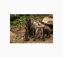 Black Wolf With Pups Unisex T-Shirt