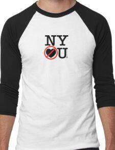 New York Hates You (Classic Stacked Logo) Men's Baseball ¾ T-Shirt