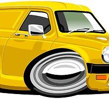 Reliant Kitten van yellow by car2oonz
