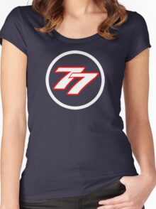 Bottas 77 Women's Fitted Scoop T-Shirt