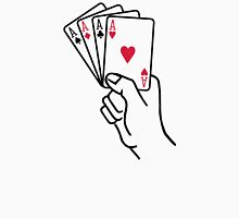 Poker cards aces hand Unisex T-Shirt