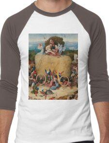 Hieronymus Bosch : The Hay Wain Men's Baseball ¾ T-Shirt