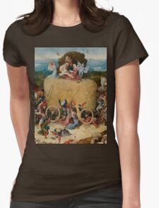 Hieronymus Bosch : The Hay Wain Womens Fitted T-Shirt