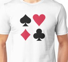Poker card deck colors Unisex T-Shirt