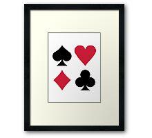 Poker card deck colors Framed Print