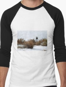 Vintage Hunting House in Winter Men's Baseball ¾ T-Shirt