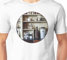 Mortar and Pestle and Bottles on Shelves T-Shirt