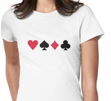 Poker cards Womens Fitted T-Shirt