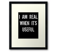 Batman Justice League real when useful Framed Print