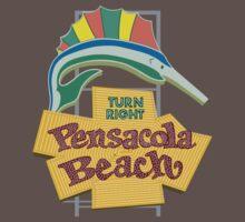 Pensacola Beach Sign, Florida One Piece - Short Sleeve