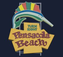 Pensacola Beach Sign, Florida Kids Tee