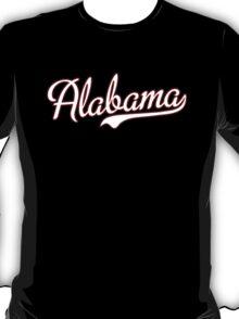 Alabama Script White  T-Shirt