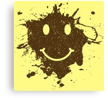 Vintage Mud Smiley Canvas Print