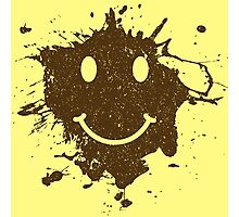 Vintage Mud Smiley Photographic Print