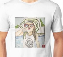 Girl with frog & shades Unisex T-Shirt