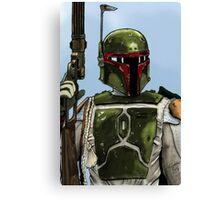 Boba Fett - Colour  Canvas Print