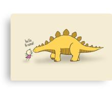 Hello Friend (Dinosaur) - two lof bees Canvas Print