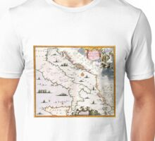 Vintage Map of Italy (17th Century) Unisex T-Shirt