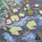 Water Lilies (pastel) by Niki Hilsabeck