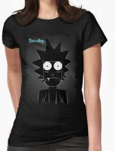 Rick (black) Womens Fitted T-Shirt