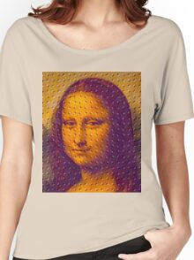 """""""WHIMSICAL MONA LISA"""" ABSTRACT PRINT Women's Relaxed Fit T-Shirt"""